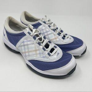 Nike 335942 151 Women's Size 6.5 Channel Tac White Purple No Tongue Golf Shoes